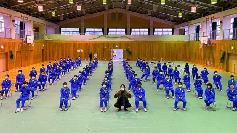埼玉県嵐山町の菅谷中学校にて薬物乱用防止教室